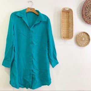 Fridaze Lagenlook Linen Button Down Shirt Top